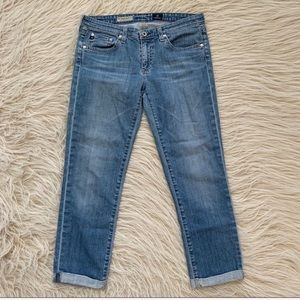 AG Adriano Goldschmied stevie roll up jeans denim